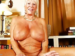 Granny with an amazing pair of huge tits tubes