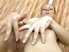Small breasts milf fondles her tits and rubs her cunt tubes