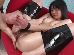 Bound and lubed japanese girl fingered by guys tubes