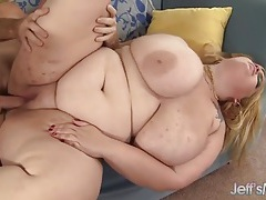 Bbw blonde and a thick cock guy have hot sex tubes