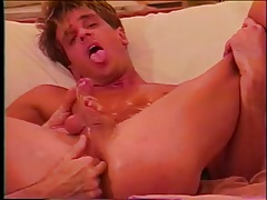 Skinny body solo boy strokes his sexy dick tubes
