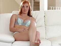 Cute redhead alex tanner interviews in her underwear tubes