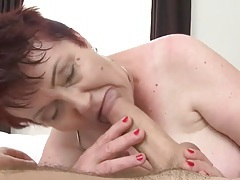 Horny old bbw fucked by a stiff young dick tubes
