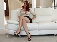 Milf pornstar kendra james interviews in a satin blouse tubes