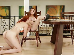 Gorgeous redheads with great tits have sex tubes