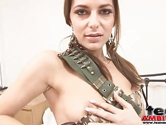 Solo spinner teases with her small tits tubes