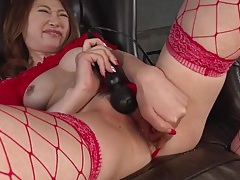 Sexy red lingerie on a sweet japanese girl tubes