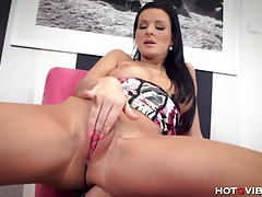 Busty euro babe fucks herself silly tubes