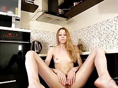 Pretty milf striptease to show her hairy bush tubes
