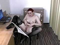 Sexy boots and stockings on a hairy girl tubes