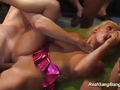 Gangbang orgy with busty tattooed german tubes