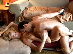 Hot blonde milf with great tits fucks passionately tubes