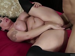 Fat girl fucked deep by a thick black cock tubes