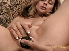 Hot and classy milf fucks her favorite dildo tubes