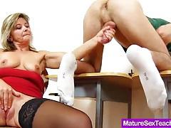 Jane making her student cum tubes