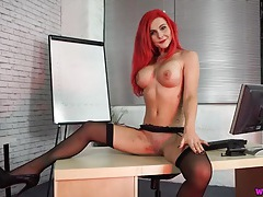 Big breasted girl with tattoos talks naughty tubes