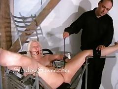Bizarre prison camp pussy shaving tubes