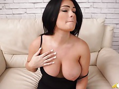 Sexy english girl pulls out her big natural tits tubes