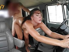 Sweaty hardcore fucking in the back of his truck tubes