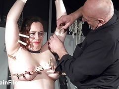 Bbw extreme breast whipping tubes