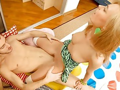 Blonde teen with perfect titties fucks a big cock tubes