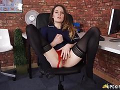 Nurse flashes her red satin panties at you tubes