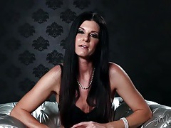 India summer interview in a black bra tubes