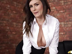 Her blouse pops open to show off her big tits tubes