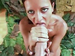 Long fingernails on a sexy cocksucking chick tubes