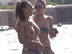 Beach spy films beautiful topless babes tubes