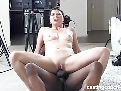 Black casting agent fucks a milf in her wet cunt tubes