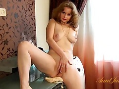 Real milf in a sexy striptease tubes