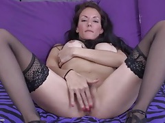 Perfect tight milf in stockings and heels masturbates tubes